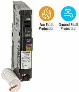 Square D 20 Amp Ground Fault Qo Single pole Dual Function Breaker Cafci And Gfci