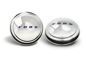 1947 1948 Ford Hubcaps Passenger Car Truck Stainless Steel Painted Set Of 4