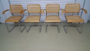 Set Of 4 Vintage Cesca Chairs All Armchairs Mintish Condition Signed Nice Italy