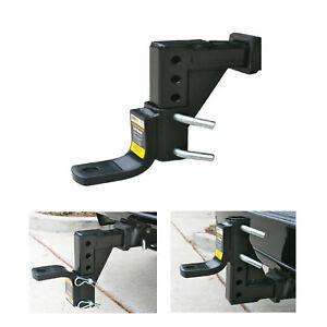 Adjustable Ball Mount Hitch Truck Camper Trailer 8 Position Heavy Duty Towing