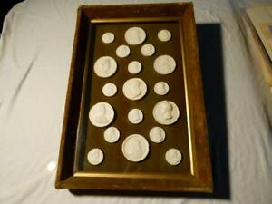 34 Grand Tour 19thc Plaster Cameo Tassie Medal Collection Moldings Greek Rome