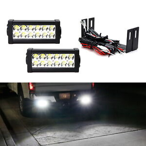 Dual 7 Led Light Bars W rear Bumper Mount Wiring For 12 up Tacoma 14 up Tundra