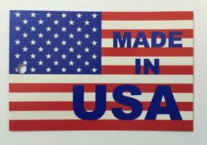 Made In Usa Hang Tags Printed 4 Color Process Both Sides 1000 Per Bundle