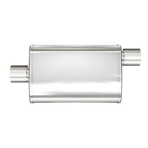Magnaflow 13216 Universal Oval Stainless Muffler 4 x9 2 5 In out