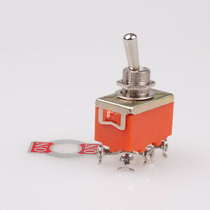 50pcs Dpdt On on 2 Positions 6 Screw Terminal Toggle Switch Ac 250v 15a
