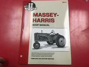 Massey Harris I t Tractor Service Shop Repair Manual 20 22 30 44 55 101 Pony Mh2