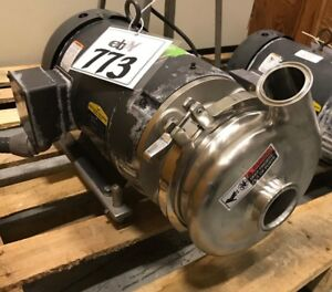 Waukesha 2065 Centrifugal Pump 2 1 2 inlet X 2 outlet 10hp With Stainless Feet