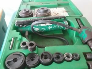 Greenlee Hydraulic Knockout Knock Out Punch Set Big Dies