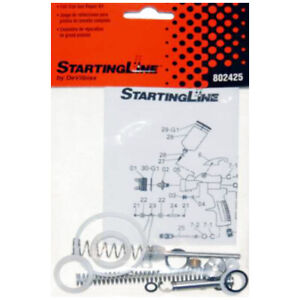 Devilbiss Startingline Full Size 1 3 1 8 Hvlp Spray Gun Repair Kit Rebuild Set