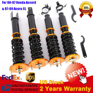 Coil Coilover Suspension Kit Racing Fit For Honda Accord 90 97 Acura Cl 1997 99