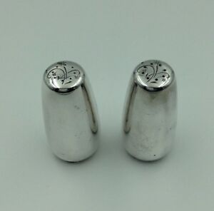 Gorham Sterling Celeste Pattern 1335 Pr Salt Pepper Shakers C1956