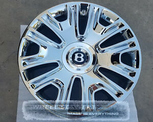 Bentley Continental Gt Flying Spur 19 Inch Chrome Wheels Rims Cgt Cfs Mulliner