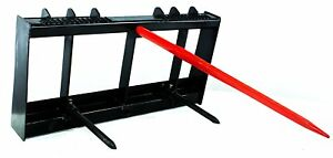 Titan Hd Frame 49 Tractor Hay Spear 2 Stabilizers Skid Steer 4000lb Capacity