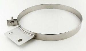 Pypes Hsc008 Universal 304 Stainless Steel 8 Diesel Stack Exhaust Clamp