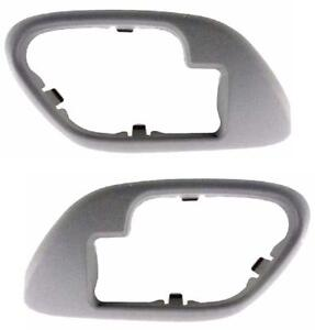 1995 1998 Chevy Gmc Truck For Inside Door Handle Bezels Gray Pair Suburban