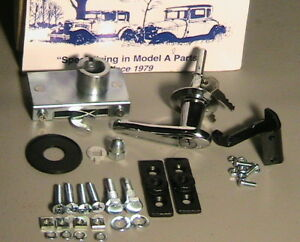 1928 1929 1930 1931 Model A Ford Deluxe Trunk Lid Handle And Hinge Set