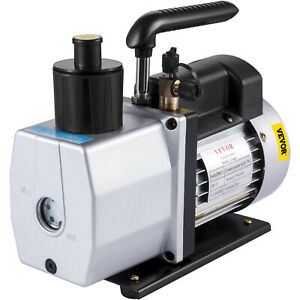 New Vevor 5 Cfm 2 Stage Rotary 110v 1 2hp Vane Vacuum Pump Hvac With Gauge