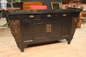 Cupboard Oriental Wooden Lacquered Chest Of Drawers Sideboard Antique Furniture