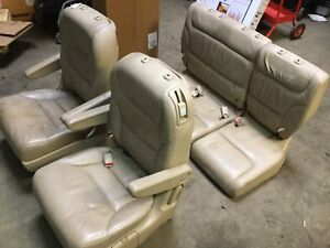 05 10 Honda Odyssey Rear Back 2nd 3rd Row Seat Set Of Seats Oem S