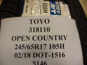 1 Toyo Open Country Qt Tire 245 65 17 105h 318110 Q8