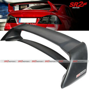 Mugen Style Rr Rear Trunk Spoiler Wing Lip Unpainted For 06 11 Honda Civic Sedan