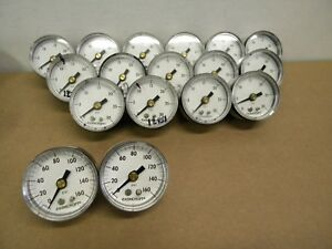 Ashcroft 1 5 8 Pressure Gauge 0 30psi Gauge Lot Of 18