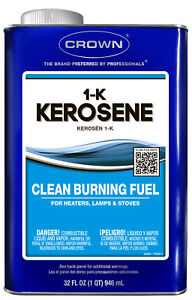 1 Quart Can 1 k Kerosene Fuel Clean Burning For Lantern Lamp Heater Stove Crown