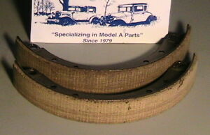 1928 1929 1930 1931 Model A Ford Brake Shoes With Molded Woven Linings One Wheel