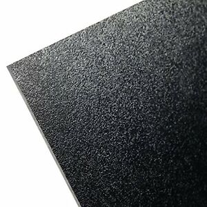 Hdpe high Density Polyethylene Plastic Sheet 1 2 X 24 X 48 Black Textured