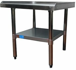 24 X 30 Stainless Steel Equipment Stand With Undershelf Commercial Grade Nsf