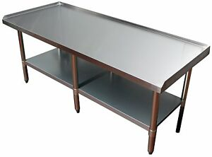 24 X 72 Stainless Steel Equipment Stand With Undershelf Commercial Grade Nsf