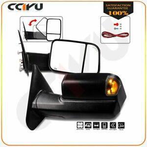 Tow Mirrors Pair For 2002 08 Dodge Ram 1500 2500 3500 Power Heated Turn Signals