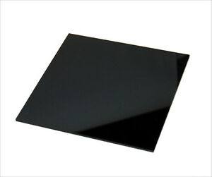 Acrylic Cast Plastic Sheet 1 2 X 24 X 24 Black