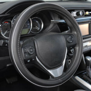 Official Acdelco Synthetic Leather Steering Wheel Cover Gray Stitching Accent