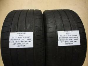 2 Michelin Pilot Super Sport Fits Bmw 295 30 20 101y Used Pair 02662