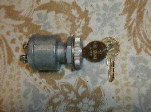 New Cole Hersee Universal Ignition Switch 2 Keys 3 Position On Off Start 12v