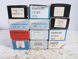 Lot Of 144 Monarch Oil Burner Nozzles New In Box 12 Different Sizes Fuel Furnace
