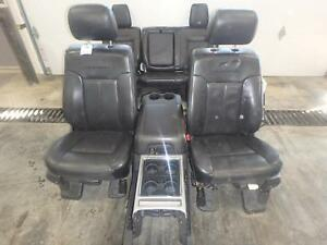 99 16 Ford F250 F350 Front Rear Seats Center Console Black Leather Platinum Oem