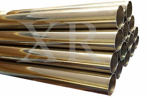 3 0 T 304 Ss Stainless Steel Exhaust Piping Tubing 3 Ft Long Tube Pipe 3 Inch