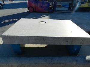 90 X 60 X 10 Thick white Granite Surface Plate W attached Base