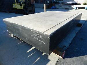 133 X 87 X 20 Thick Granite Surface Plate no Base 5 16 Threaded Holes