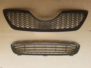 2pc Set 2007 2009 Toyota Camry Se Front Bumper Upper Lower Grille New Pair