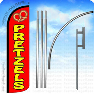 Pretzels Windless Swooper Flag Kit Feather Banner Sign 15 Rz