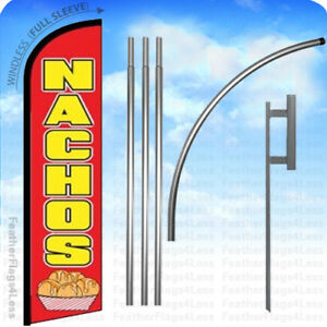 Nachos Windless Swooper Flag Kit Feather Banner Sign 15 Rf