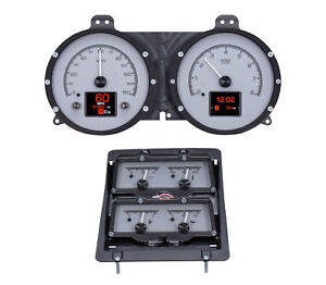 1968 Chevy Camaro W console Gauges Hdx System Silver Face