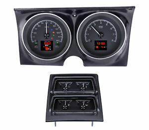 1968 Chevy Camaro W console Gauges Hdx System Black Face