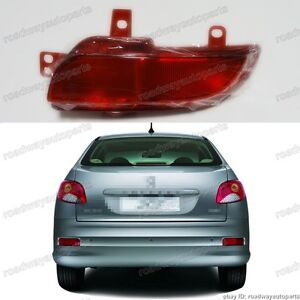 Right Rear Fog Light Lamp For Peugeot 206 Plus 207 Compact 2008 2009