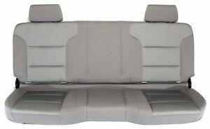 New Oem Gm 2nd Row Folding Bench Seat Rear Drk Grey Cloth 2016 17 Silverado 1500