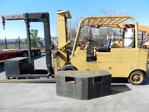 30k Caterpillar Forklift model T300 W counterweights Boom Stand And Job Box