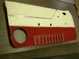 Oem Ford 1983 Mustang Interior Door Panel Trim Red White